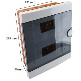 Quadro elettrico centralino ad incasso 16 moduli (8x2) IP40