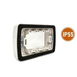 Quadro elettrico centralino esterno bianco 2-4 moduli IP40