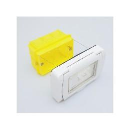 Quadro elettrico centralino esterno bianco 2-6 moduli IP40