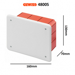 Cassetta di derivazione GEWISS da incasso serie GW48005 (...